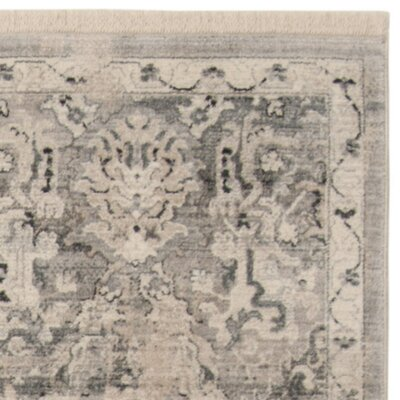 Voigt Vintage Persian Gray/Blue Area Rug Rug Size: Runner 22 x 8