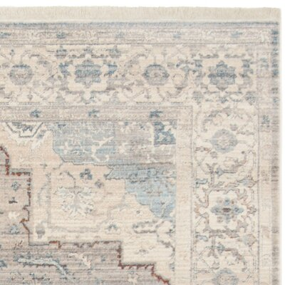 Volkman Vintage Persian Gray/Blue Area Rug Rug Size: Runner 22 x 8