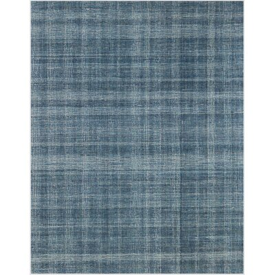 Mazzarella Hand-Tufted Wool Turquoise Blue Area Rug Rug Size: Rectangle 76 x 96