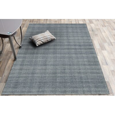 Mazzarella Hand-Tufted Wool Gray Area Rug Rug Size: Rectangle 86 x 116