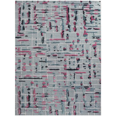 Faraci Hand-Tufted Pink Area Rug Rug Size: Rectangle 76 x 96