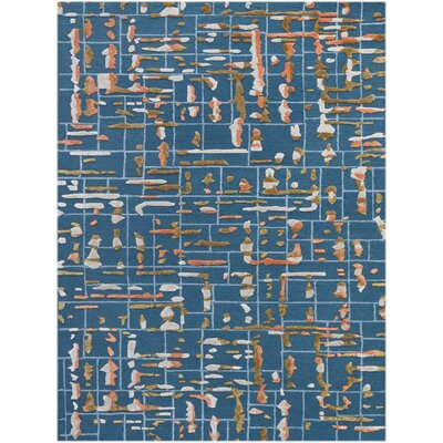 Faraci Hand-Tufted Blue Area Rug Rug Size: Rectangle 76 x 96