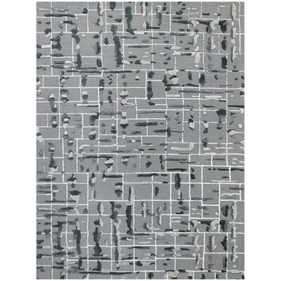 Faraci Hand-Tufted Gray Area Rug Rug Size: Rectangle 76 x 96