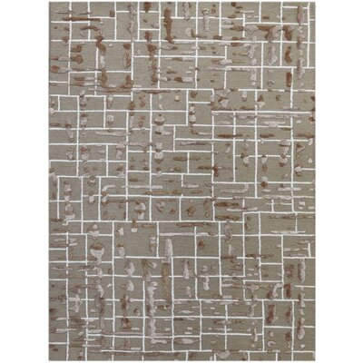 Faraci Hand-Tufted Vintage Khaki Area Rug Rug Size: Rectangle 86 x 116