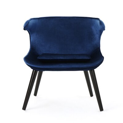 Disanto Barrel Chair Upholstery: Navy Blue