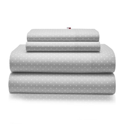 Chambray Dot 180 Thread Count Sheet Set Size: Queen