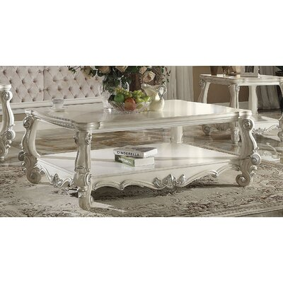 Elyssa Wooden Top Coffee Table Color: Bone White