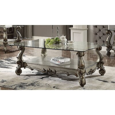 Elliana Coffee Table Table Base Color: Platinum
