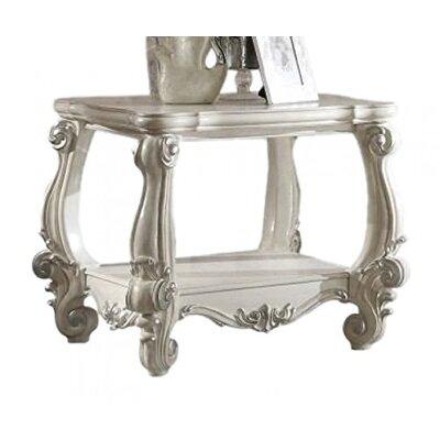 Elyssa End Table Color: Bone White