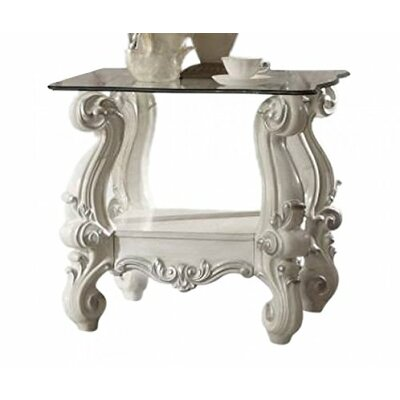 Elosie End Table Table Base Color: Bone White