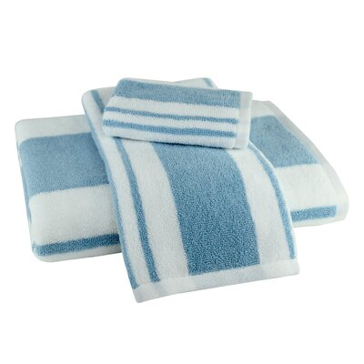 Benedetta 3 Piece Towel Set Color: Blue