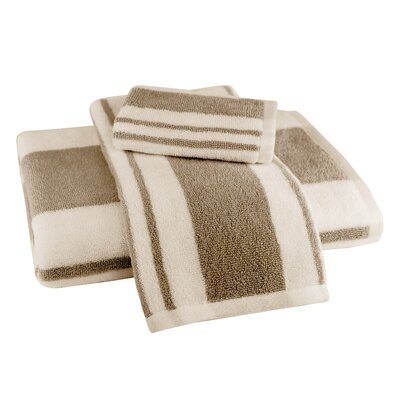 Benedetta 3 Piece Towel Set Color: Khaki