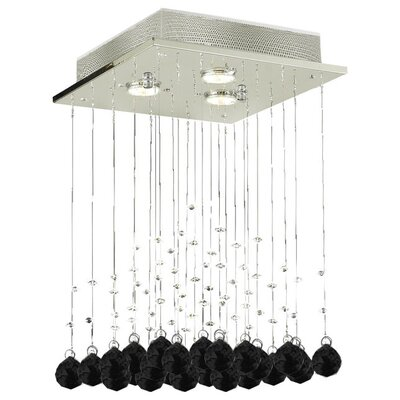 Shulman Raindrop 3-Light Crystal Chandelier Crystal: Black