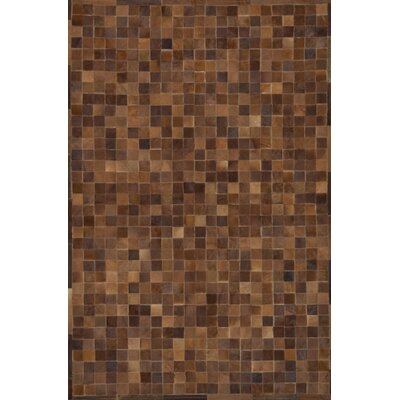 One-of-a-Kind Klahr Hand-Woven Cowhide Brown Area Rug Rug Size: Rectangle 4 x 6