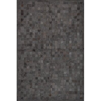 One-of-a-Kind Klahr Hand-Woven Cowhide Black Area Rug Rug Size: Rectangle 4 x 6