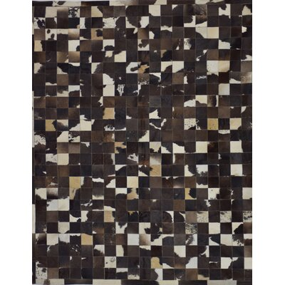 Klahr One-of-a-Kind Hand-Woven Cowhide Patchwork Area Rug Rug Size: Rectangle 5 x 8