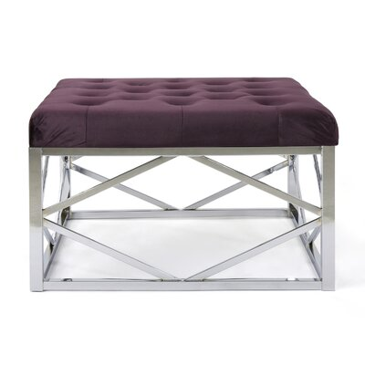 Hypes Cocktail Ottoman Upholstery: Blackberry, Finish: Chrome