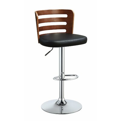 Douthit Adjustable Height Swivel Bar Stool