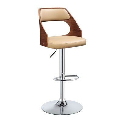 Dinardo Adjustable Height Swivel Bar Stool