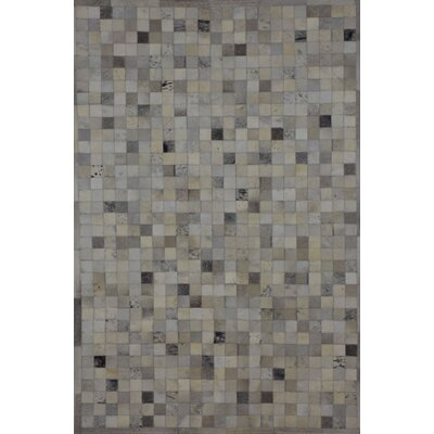 One-of-a-Kind Klahr Hand-Woven Cowhide Gray Area Rug Rug Size: Rectangle 4 x 6