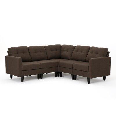 LaGuardia Modular Sectional Upholstery: Dark Brown