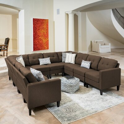 LaGuardia Modular Sectional Upholstery: Dark Brown