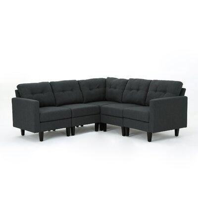 LaGuardia Modular Sectional Upholstery: Dark Gray