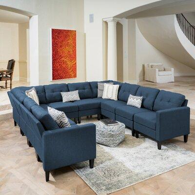 LaGuardia Modular Sectional Upholstery: Navy Blue