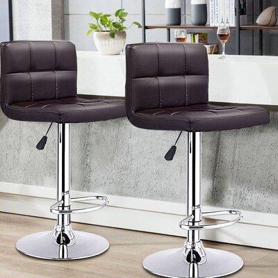 Reels 24.4 Swivel Bar Stools Upholstery: Brown