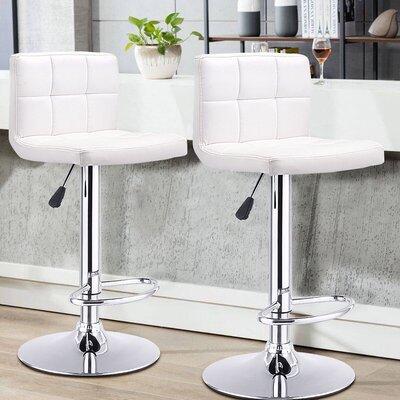 Reels 24.4 Swivel Bar Stools Upholstery: White