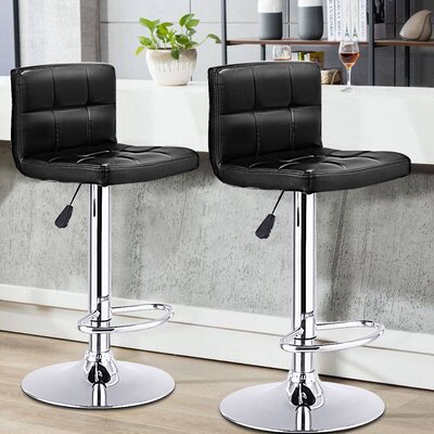 Reels 24.4 Swivel Bar Stools Upholstery: Black