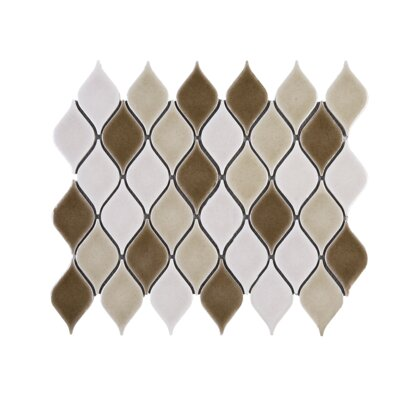 Handmade Water Drop 2.3 x 3.6 Porcelain Tile in Brown/Beige
