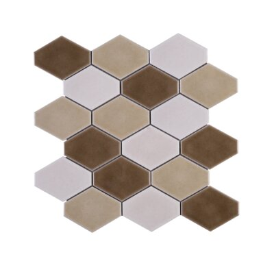 Handmade Diamond 4 x 4 Porcelain Tile in Brown