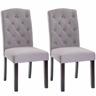 Plourde Upholstered Dining Chair Upholstery: Gray