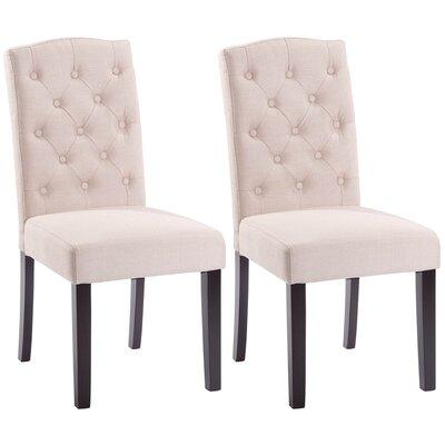 Plourde Upholstered Dining Chair Upholstery: Beige