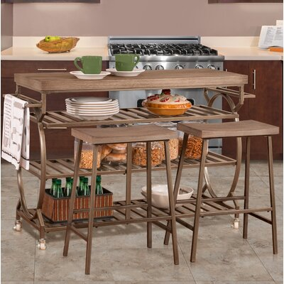 Trentelman 3 Piece Kitchen Cart Set