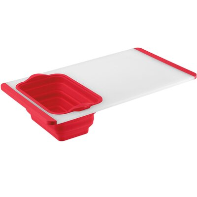 Plastic Poly Built-In Colander Cutting Board Color: Red CTG-00-CBCR