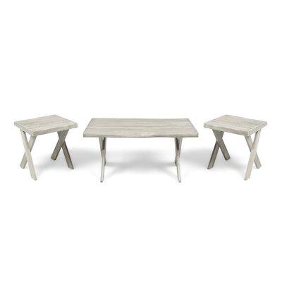 3 Piece Coffee Table Set Color: Sandblast Light Gray