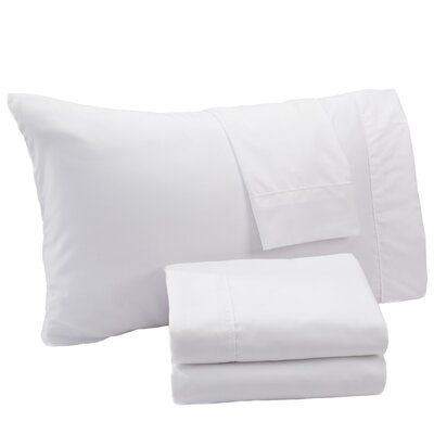 Aurik Extra Soft Solid Microfiber Sheet Set Size: Queen, Color: White
