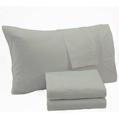 Aurik Extra Soft Solid Microfiber Sheet Set Size: Twin, Color: Ash Gray