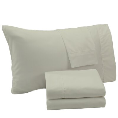 Aurik Extra Soft Solid Microfiber Sheet Set Size: Full, Color: Gray Morn
