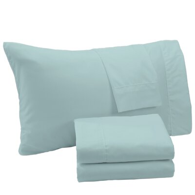 Aurik Extra Soft Solid Microfiber Sheet Set Size: King, Color: Ether Blue