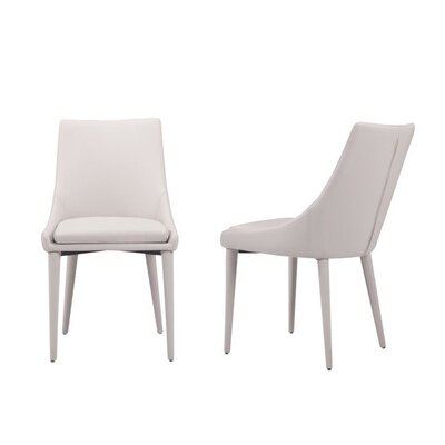 Mccleery Modern Upholstered Dining Chair Color: Gray