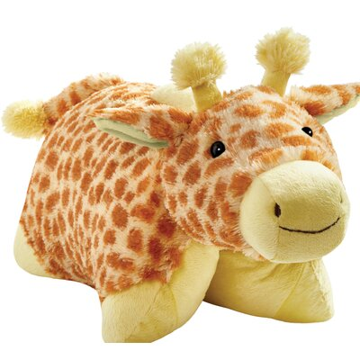 Jolly Giraffe Plush Chenille Throw Pillow