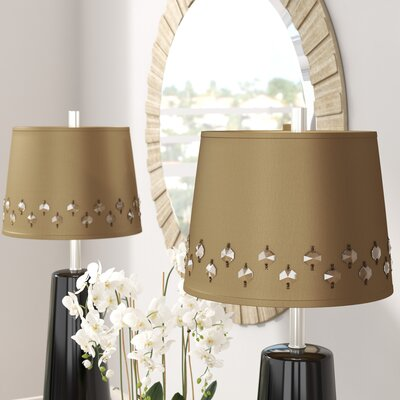12 Fabric Drum Lamp Shade (Set of 2) Color: Dark Taupe