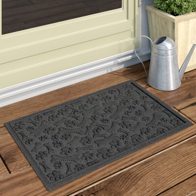 Conway Paw and Bones Doormat Color: Charcoal