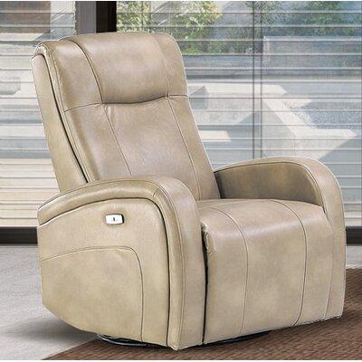 Hiller Power Swivel Recliner Upholstery: Sierra Cream