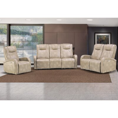 Hiller 3 Piece Reclining Living Room Set Upholstery: Sierra Cream