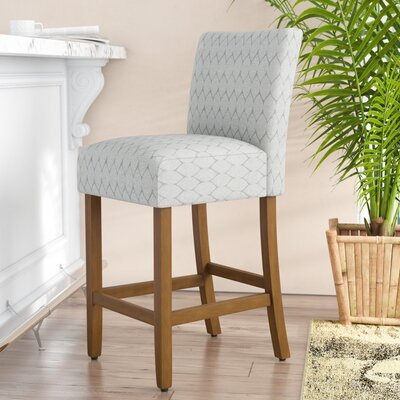 Thorndale Textured 30 Bar Stool Upholstery: Gray
