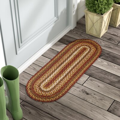 Annabelle Red/Yellow/Green Area Rug Rug Size: Oval 11 x 4
